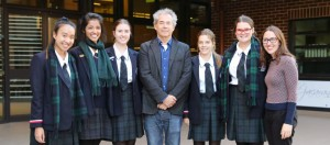 Pymble Ladies' College Timothy White and students