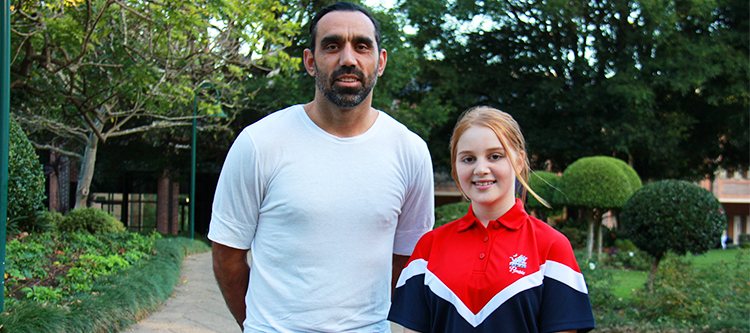Adam Goodes and Layla