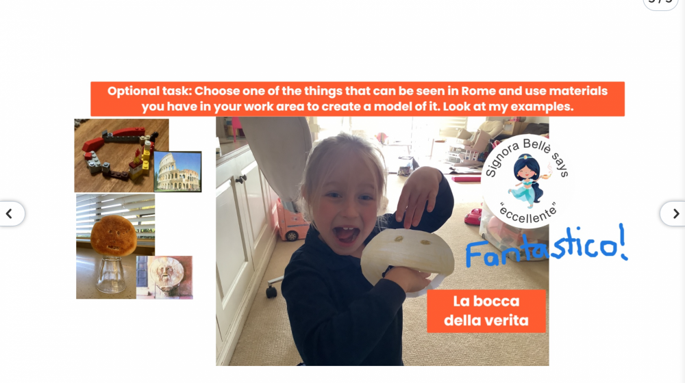 Online Italian Lessons for our Preparatory School Girls