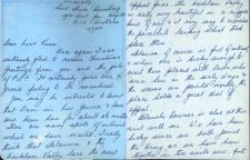 Sheila Armstrong Letter 1944